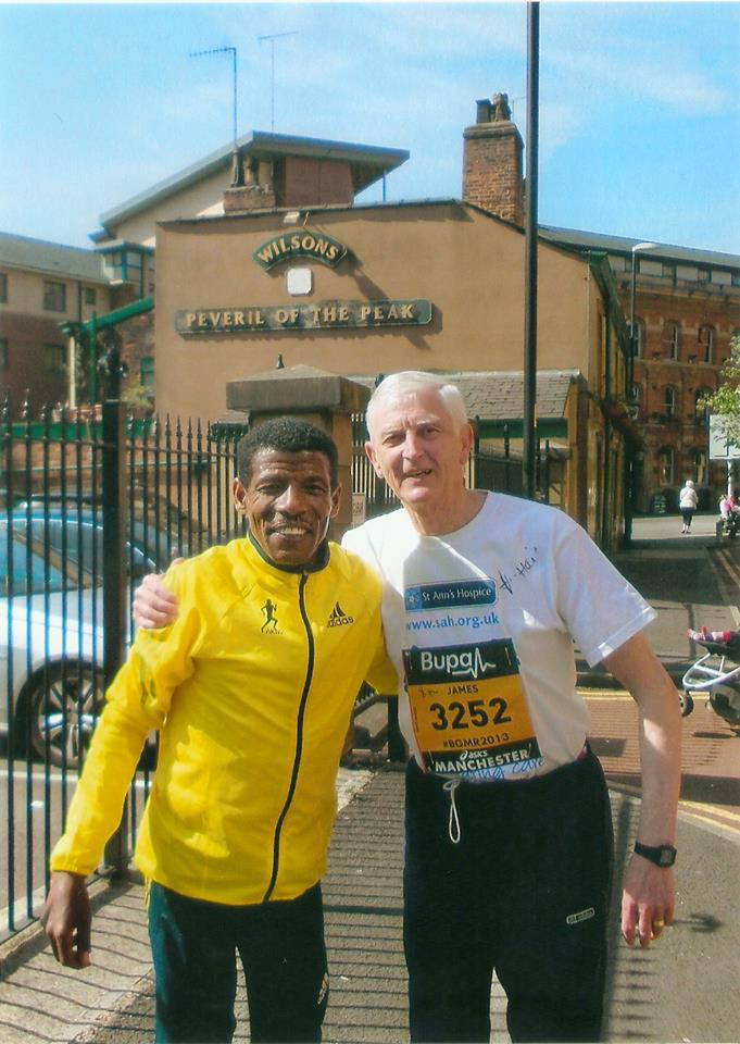 At the Manchester Run Jim manages a chat with one of the greatest runners in history, Haile Gebrselassie!