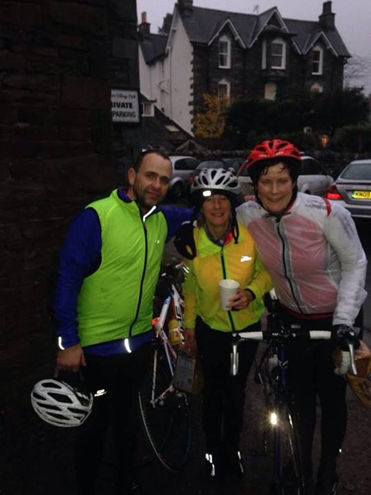 Shaun, Kath and Tanya at the end of a damp event !