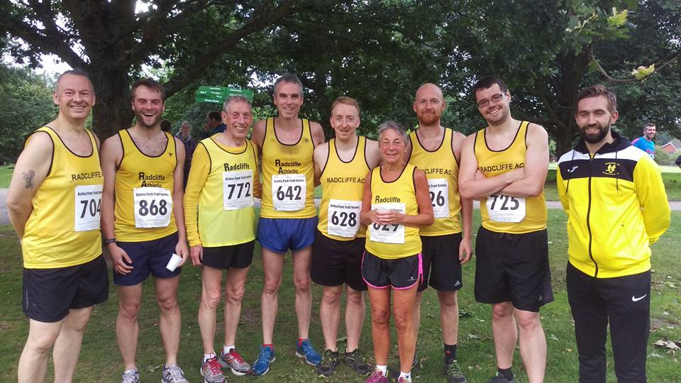 Radcliffe AC Runners at the Chorley race.