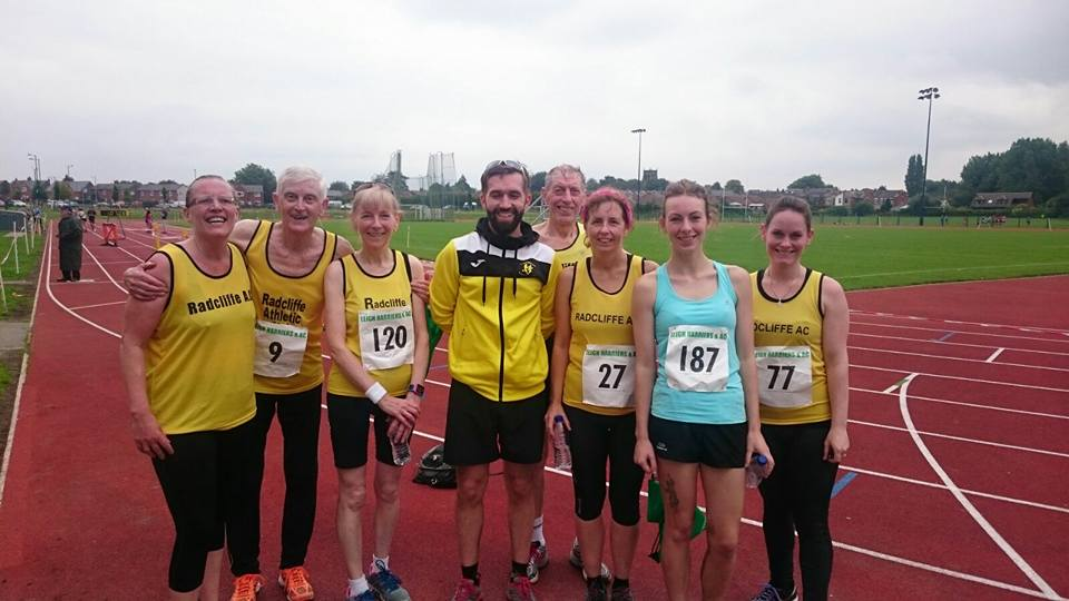 Radcliffe AC Runners at the Pennington Flash.
