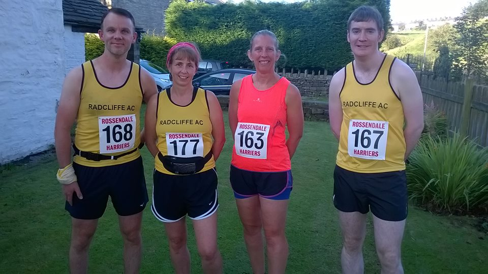 Radcliffe AC runners at the Golf Ball.