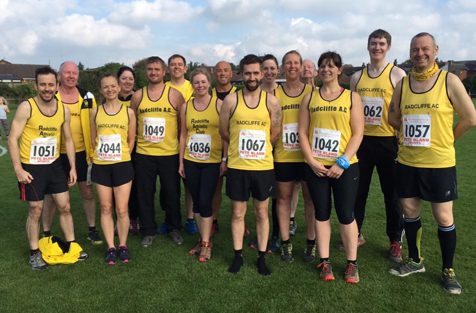 Radcliffe Runners at the first cross country event.