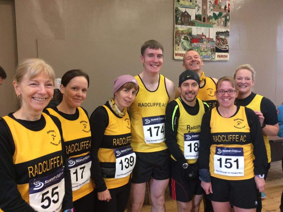 Radcliffe AC Runners at Through The Villages.