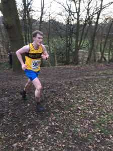 Chris from Radcliffe AC running at Astley Park