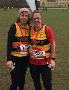 Beverley and Sarah from Radcliffe runners running in Yorkshire.