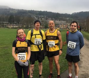 Group of Radcliffe runners taking on Flower Scar run.