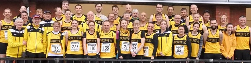 The Yellow Army of Radcliffe AC runners