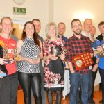 Prizewinners at the Radcliffe AC presentation night