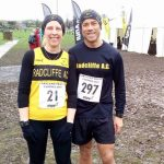 Radcliffe AC members running at the Cartmel 18k Trail Race in the Lake District