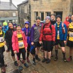 Radcliffe runners togged up at Hepstonall 15.4 mile long fell race.
