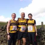 Radcliffe boys and girls taking on the tough hills at Pendle Race