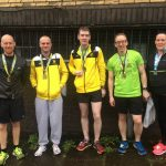Radcliffe AC club at the Wigan 5K race