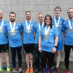 group of Radcliffe AC runners at Manchester Marathon