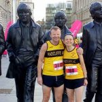 Fiona and Rob from Radcliffe AC in Liverpool after competing in the Liverpool half marathon