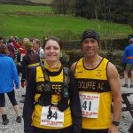 Mauro and Caroline from Radcliffe AC at Lad's Leap Fell Race