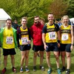Runners at Fairfield. On the right is Benn Heywood from Bury AC who had a good run in 1hr 46mins 08secs in his first Lakeland race.