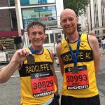 Mike and John at the new Manchester half.