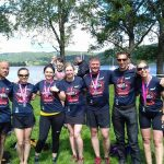 Coniston competitors in their event t-shirts.