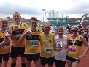 Runners at We Love Manchester 10k