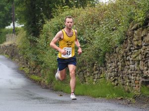 Neal om his way to winning the Pendle Festival Half.
