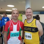 Ian met an old comrade from the Royal Navy Craig Linacre who he hadn't seem for years. Craig runs for Sutton in Ashfield Harriers in Nottingham and did the 10k in 43mins 38secs.