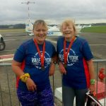 Lucy and friend Jan at the Vale of York Half.