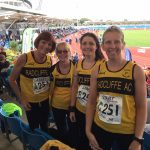 Girls at the road relays