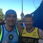 Rob Lister in Belfast shares success with another runner.