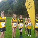 Youngsters in the first junior section cross country.