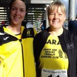 Kate and friend Sarah Thomas at the Crawley 10k.