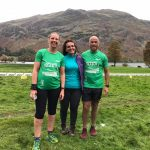 Lisa and Mauro in the Lakes with Sarah Oxley who was marshalling at the events.