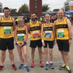 Runners at the Manchester Half.