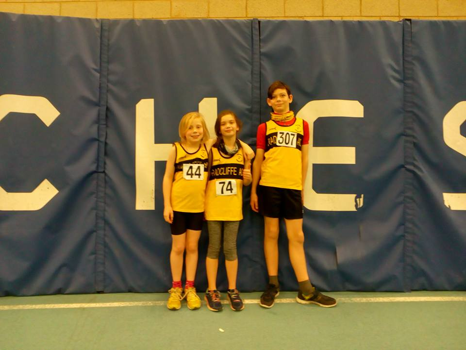 Youngsters Fleur,Niamh and Ewan get a taste of the big competition.