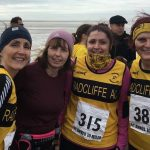 A windy run by the seaside for Helen, Bev, Caroline and Jenny.