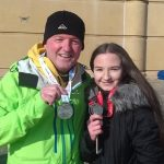 Mark and Grace with their medals in Rhyl.
