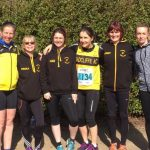 Six-strong team at the road relays.