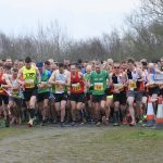 Runners ready to go. Eventual winner James Kovacs, number 294, is on the far left (Pic by Debi Warrington).
