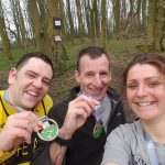 Three at the tough Rivington 10 Mile Trail Race.