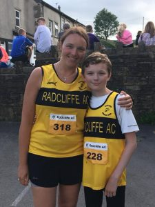 Amanda and Ben in their first official race for Radcliffe.