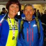 Jenny with running legend Ron Hill.