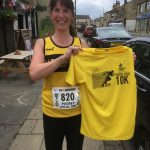 Leonora at the Pudsey 10k.