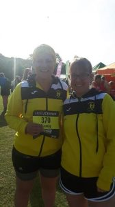 Sarah and Lucy at the Round Sheffield Run.
