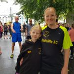 Sharon and Megan at Aberystwyth Parkrun while on holiday.