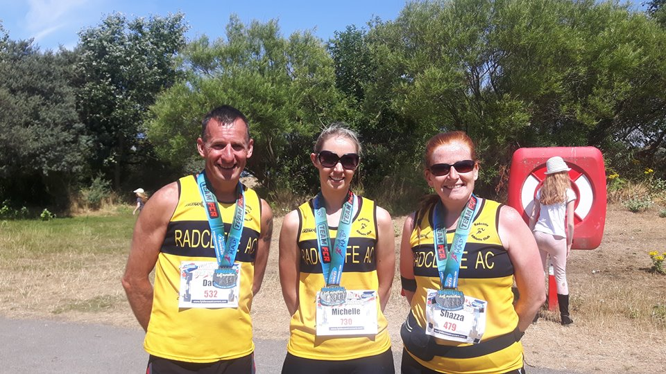 Tackling the heat at the Windmill Half Marathon are Dave, Michelle and Sharon.