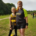 Sharon and Megan at the parkrun in Cornwall.