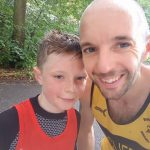 Little family rivalry for Andy Haines and son Sam at Worsley Woods Parkrun.