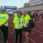 Elaxi and Deborah at the Decathlon 5k.