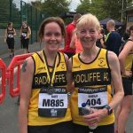 Kate and Sheila at the Trafford 10k.