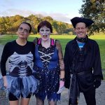 Fancy dress at the parkrun for Caroline, Jenny and Vince.