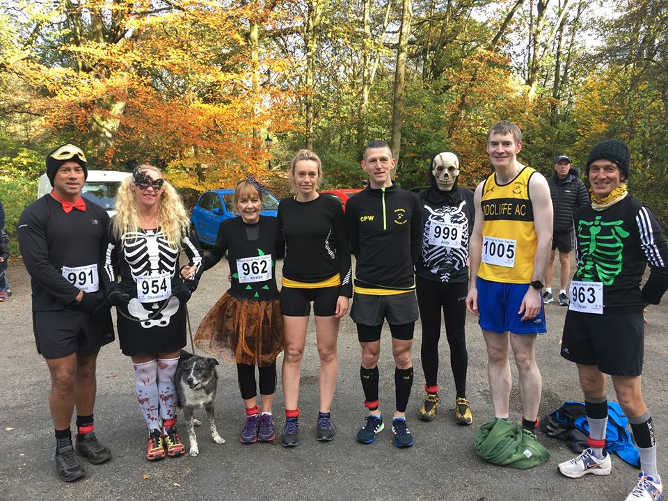 Runners in their fancy dress at the Trick of treat 4 miler.